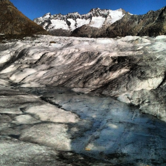 Glaciers are sweating